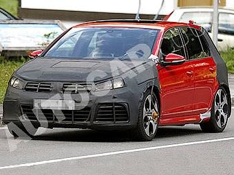 Появились фотографии самого мощного VW Golf