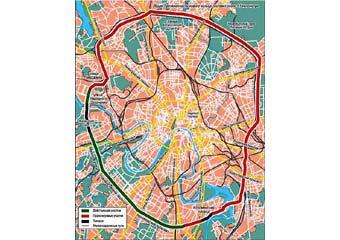 Московские власти отложили строительство четвертого кольца