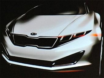 Компания Kia показала эскиз нового спортседана бизнес-класса