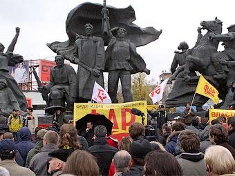 В России прошли массовые акции протеста автомобилистов