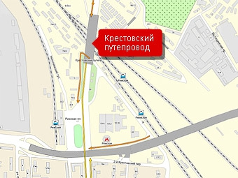 Крестовский путепровод достроят к маю 2010 года