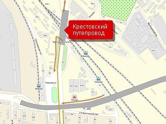 Крестовский путепровод в Москве не успеют достроить до Нового года