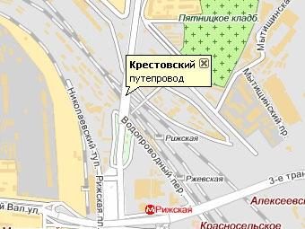 Крестовский путепровод в Москве отремонтируют за год