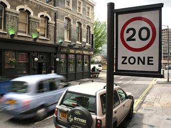 В центре Лондона запретили быстро ездить