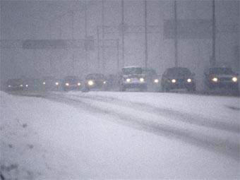 Снегопад спровоцировал крупные ДТП в США
