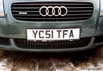 Новые английские автомобильные номера нельзя будет украсть