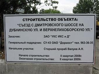 Дмитровское шоссе и Дубнинскую улицу соединят проездом