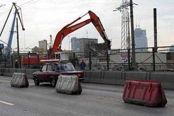 Тверской путепровод в Москве закроют на реконструкцию