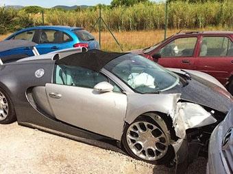 Во Франции разбили первый серийный Bugatti Veyron Grand Sport