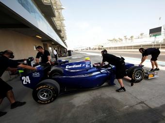 Алешин завершил двухдневные тесты GP2 в Абу-Даби в последней пятерке
