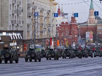 В среду московские улицы перекроют из-за репетиций парада Победы