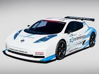 На выставке в Нью-Йорке Nissan покажет гоночный электрокар