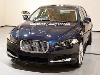 Появилась первая фотография обновленного седана Jaguar XF