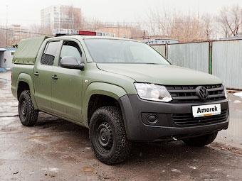 Российский дилер VW построил спецверсию пикапа Amarok для военных