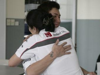 Команда Sauber премировала работников за результативный финиш в Австралии