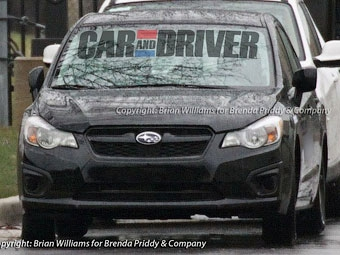 Фотошпионы рассекретили внешность нового седана Subaru Impreza
