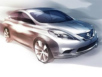 Nissan впервые показал седан Versa нового поколения