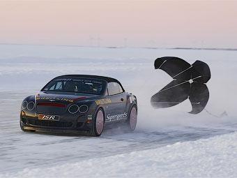 Кабриолет Bentley установил новый мировой рекорд скорости на льду