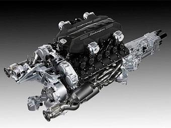 Компания Lamborghini рассекретила новый мотор V12 для преемника Murcielago