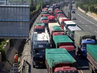 Самая длинная пробка в Китае увеличилась до 260 километров