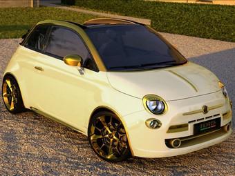 Китаец приобрел позолоченный кабриолет Fiat за 550 тысяч евро