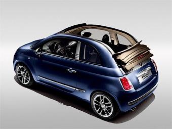 """Fiat представил """"джинсовую"""" версию кабриолета """"500"""""""