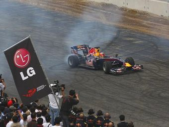 На трассе Формулы-1 в Южной Корее началась укладка асфальта