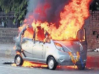Tata выяснит причину возгорания малолитражек Nano