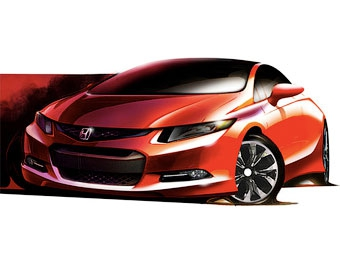Прототип Honda Civic нового поколения покажут в январе