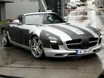 Фотошпионы засняли открытый Mercedes-Benz SLS AMG