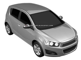 Появились изображения нового Chevrolet Aveo