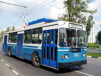 В московских пробках обвинили троллейбусы