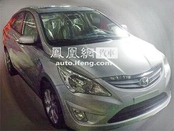 Появились шпионские фотографии нового Hyundai Verna