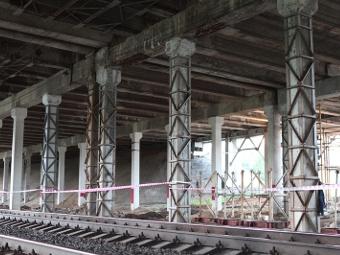 На Ленинградке открыли после ремонта Октябрьский путепровод