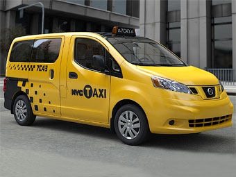 Нью-йоркские таксисты пересядут на минивэны Nissan