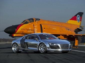 Немцы покажут в Женеве 777-сильный хромированный Audi R8