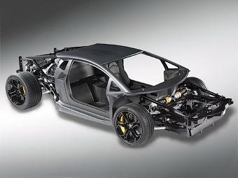 Марка Lamborghini рассекретила шасси нового суперкара