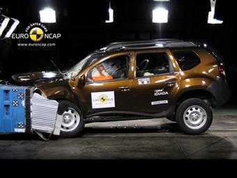 Кроссовер Dacia Duster получил три звезды Euro NCAP