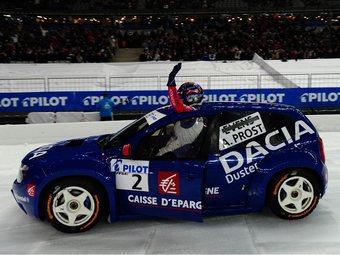 Ален Прост выиграл выставочный заезд чемпионата по ледовым гонкам