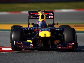 Марк Уэббер стал лучшим в первый день тестов Формулы-1 в Барселоне