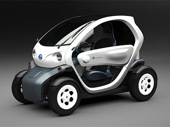 Nissan показал свою версию электрокара Renault Twizy