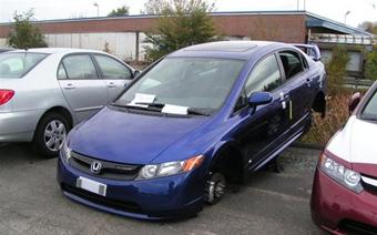 Воры превратили Honda Civic Mugen Si в просто Civic Si
