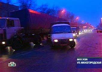 Из центра Москвы убрали грузовики