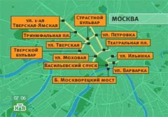 7 ноября в центре Москвы перекроют движение
