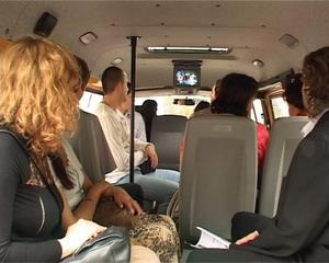 Телевизоры в московских маршрутках расскажут об истории Нового года