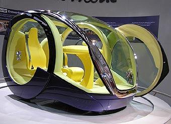 Peugeot показал цилиндрический автомобиль