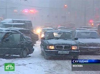 Движение в центре Москвы парализовано