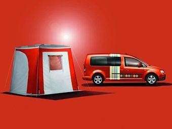 VW показал Caddy со встроенной двухметровой кроватью
