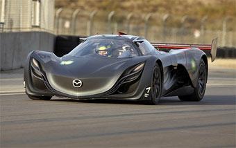 Mazda показала кольцевой прототип с роторным мотором