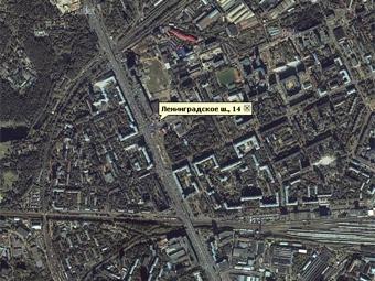 На Ленинградском шоссе провалился асфальт